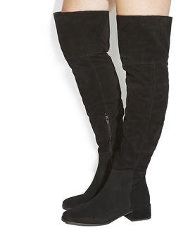 Esme Block Heel Over The Knee Boots