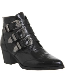 Jagger Multi-buckle Leather Boots
