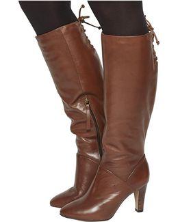 Knicks Block Heel Knee Boots