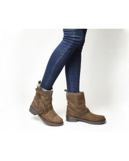 Lilo Buckle-detail Suede Boots