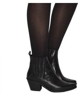 Lantern Western Ankle Boots