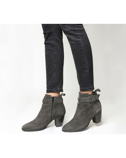 Amelie Buckle Strap Western Boots