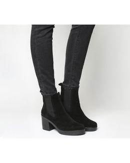 Alesha Block Heel Chelsea Boots
