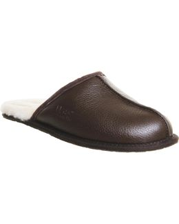 Scuff Leather Slippers
