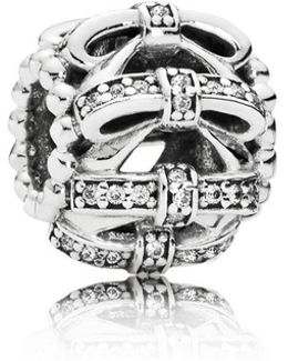 Shimmering Sentiments Openwork Charm