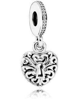 Intricate Heart Lock Pendant Charm