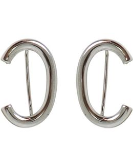 Curved Smooth Earrings Silver