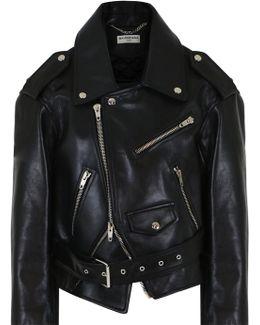 Swing Leather Biker Jacket Black