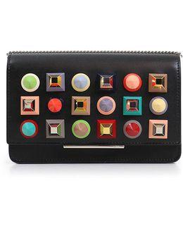 Geometric Stud Wallet On Chain Black