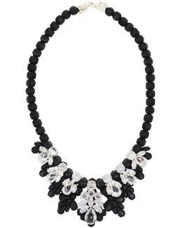Silicone Seven Jewel Neckpiece Black/white Crystals