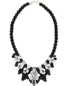 Silicone Seven Jewel Neckpiece Black/white Crystals