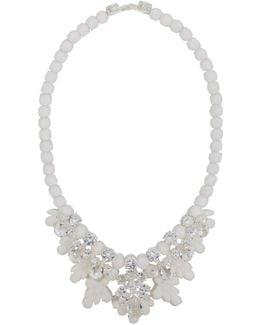 Silicone Seven Jewel Neckpiece White/white Crystals