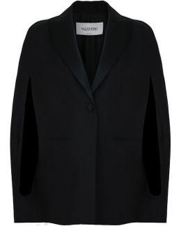 Tuxedo Cape Jacket Black