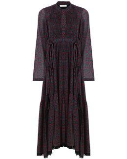 Cherry Print Maxi Dress Crimson/black