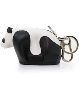 Panda Bag Charm Black/white