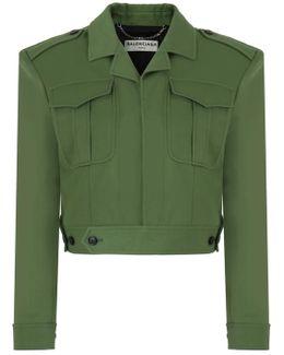 Boxy Battle Jacket Khaki
