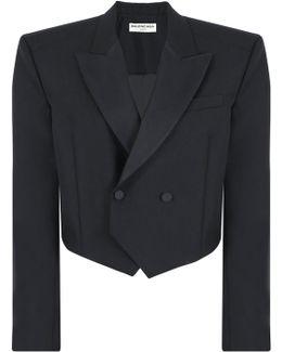 Boxy Tuxedo Jacket Black