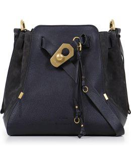 Owen Medium Bucket Bag Full Blue/gold