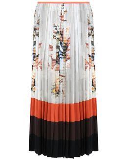 Floral Print Pleated Skirt Multi