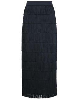 Annika Fringing Maxi Skirt Black