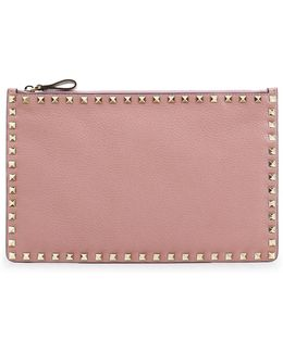 Rockstud Grained Leather Pouch Lipstick