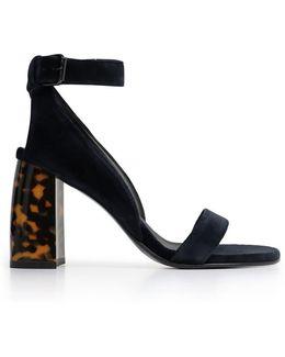 Ferdy Velvet 90mm Sandal Night Blue