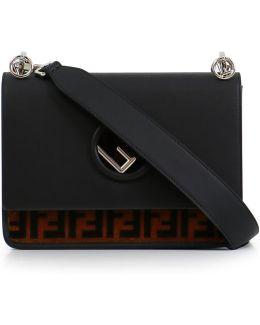 Kan I Medium Velvet Logo Bag Tobacco/black