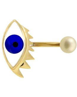 Eye Piercing Ring Gold/blue