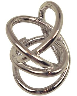 Large Abstract Line Ring Silver