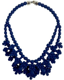 Silicone Double Layer Neckpiece Dark Blue