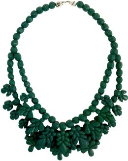 Silicone Double Layer Neckpiece Green