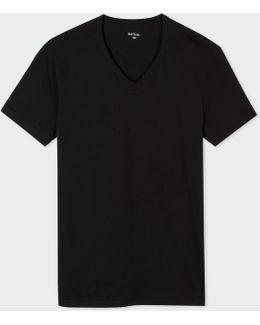 Men's Black V-neck Vest