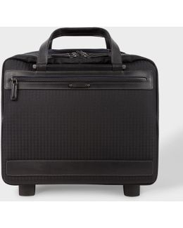 Black 'jacquard Rabbit' Small Trolley Suitcase