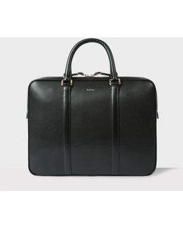 Men's Black 'city Embossed' Leather Slim Business Folio