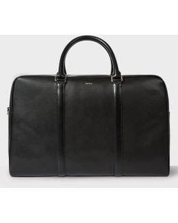 Men's Black 'city Embossed' Leather Holdall