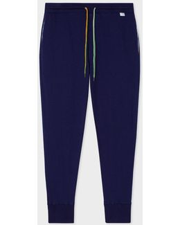 Men's Navy Jersey Cotton Lounge Pants