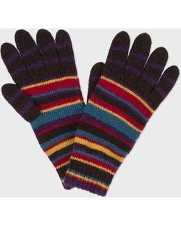 Men's Signature Stripe Wool-blend Gloves