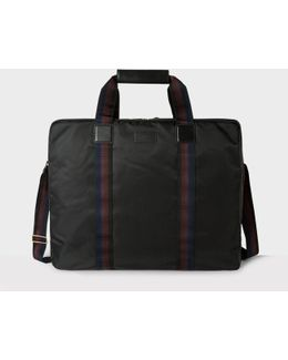 Men's Black Webbing Stripe Suit Carrier