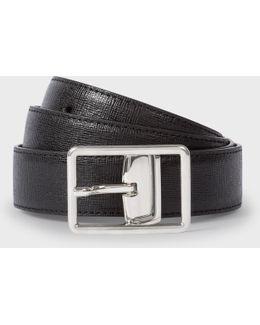 Men's Black Saffiano Leather Cut-to-fit Reversible Belt