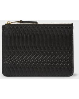 No.9 - Black Leather Zip Pouch