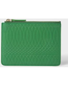 No.9 - Green Leather Zip Pouch