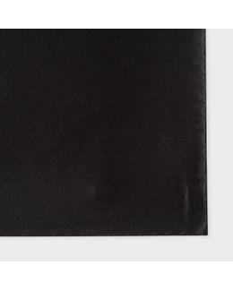 Men's Black Silk Pocket Square