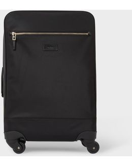 Men's Black Nylon 'city Webbing' Trolley Suitcase