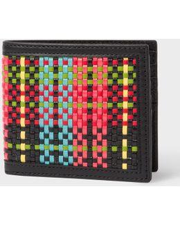 Men's Multi-coloured Woven Check Billfold Wallet