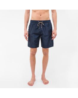 Men's Navy Long Swim Shorts