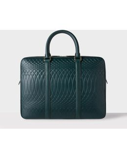 No.9 - Dark Green Leather Slim Business Folio
