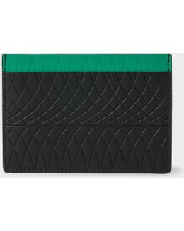 No.9 - Black Leather Card Holder With Multi-coloured Card Slots