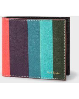Men's Leather 'artist Stripe' Print Billfold Wallet