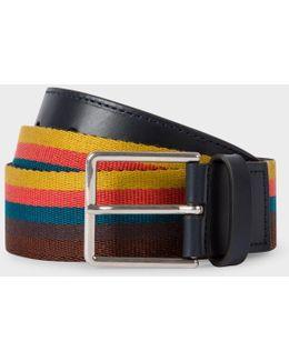 Men's 'artist Stripe' Webbing Belt