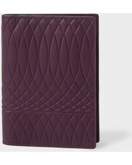 No.9 - Men's Damson Leather Credit Card Wallet With Multi-coloured Card Slots